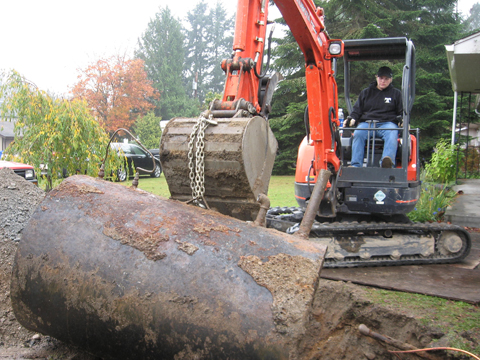 Large Capacity Residential Heating Oil Tank Removal